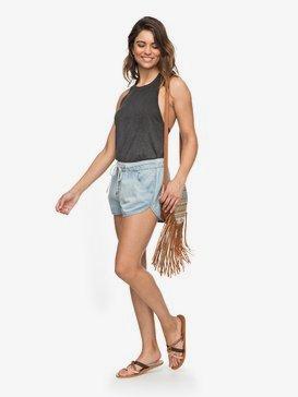 Music Never Stop - Denim Beach Shorts for Women  ERJDS03152