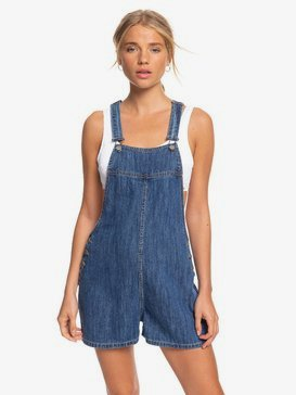 Feet On The Floor - Denim Dungaree Shorts  ERJDS03224