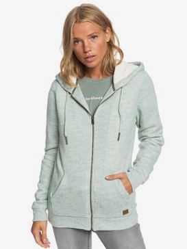 Trippin Sherpa - Zip-Up Sherpa-Lined Hoodie for Women  ERJFT04061
