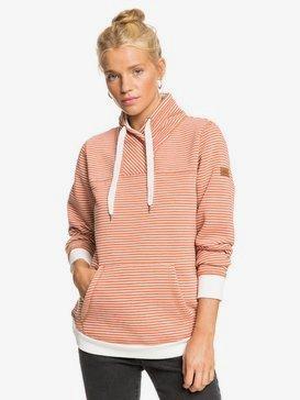 Boat Trip Stripes - Funnel Neck Sweatshirt for Women  ERJFT04288
