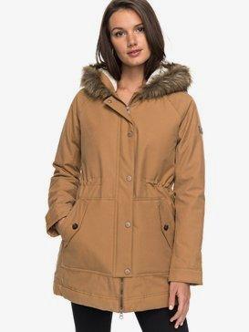 Mountain Song - Longline Hooded Jacket with Faux-Fur for Women  ERJJK03195