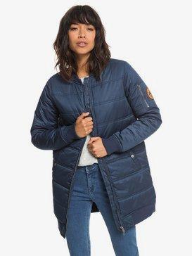 Fade Out - Water Repellent Longline Padded Bomber Jacket for Women  ERJJK03255