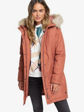 Shadow Of Time - Longline Water-Repellent Hooded Jacket for Women  ERJJK03305