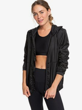 On Hold - Water-Resistant Hooded Windbreaker for Women  ERJJK03326