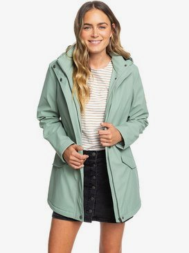 Downtown Calling - Waterproof Hooded Raincoat for Women  ERJJK03328