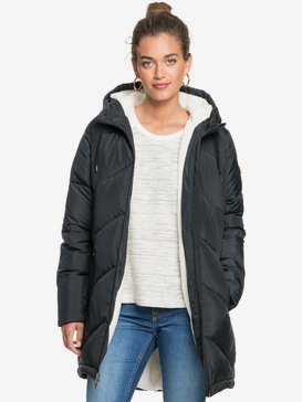 Storm Warning - Water-Resistant Longline Hooded Puffer Jacket for Women  ERJJK03390