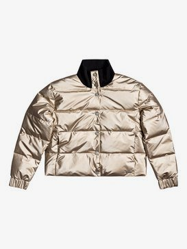 Cross Stepping - Waterproof Metallic Puffer Jacket for Women  ERJJK03398