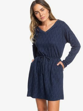 Get Home - Long Sleeve V-Neck Dress for Women  ERJKD03267