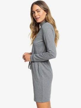 Truly Mine - Long Sleeve High Neck Sweatshirt Dress for Women  ERJKD03278