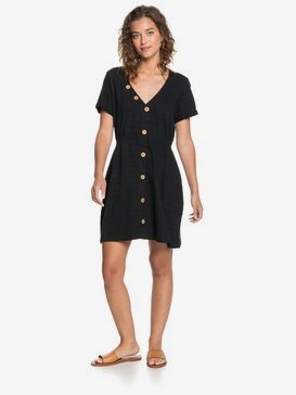 Wave And Tides - Buttoned Short Sleeve Dress  ERJKD03311