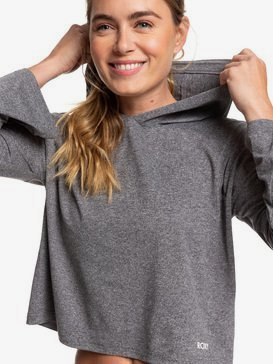 Behind The Sun - Long Sleeve Hooded Cropped Sports Top for Women  ERJKT03680