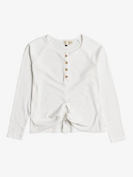 Sea Border - Oversized Long Sleeve Tie-Front Top for Women  ERJKT03737