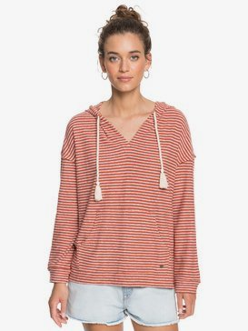 Lovely Life Stripes - Long Sleeve Poncho Hoodie for Women  ERJKT03739