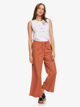 Great Past - Wide Leg Linen Trousers for Women  ERJNP03248