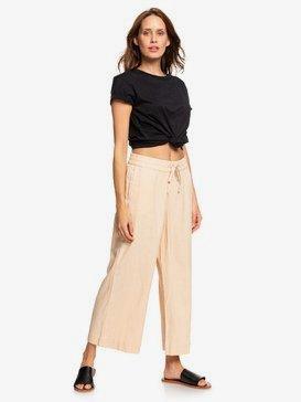Great Past - Wide Leg Linen Trousers for Women  ERJNP03248