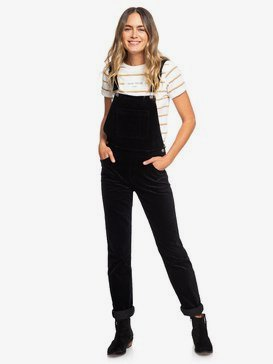 Hot Chocolate - Velour Dungarees for Women  ERJNP03262