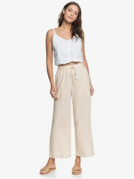 Redondo Beach - Cropped Wide Leg Trousers for Women  ERJNP03309