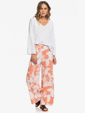 Beside Me - Wide Leg Viscose Trousers for Women  ERJNP03317