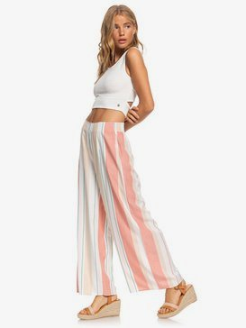 Beside Me - Wide Leg Cropped Viscose Trousers for Women  ERJNP03318