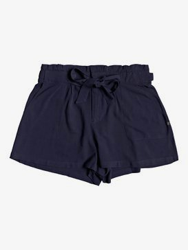 The South Side - High Waist Paper Bag Shorts  ERJNS03250