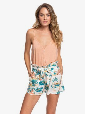 The South Side - High Waist Paper Bag Shorts  ERJNS03251