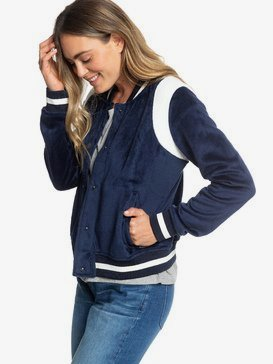 Stormy Waters - Polar Fleece Bomber Jacket for Women  ERJPF03047