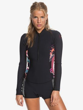1.5mm POP Surf - Long Sleeve Front Zip Shorty for Women  ERJW403019