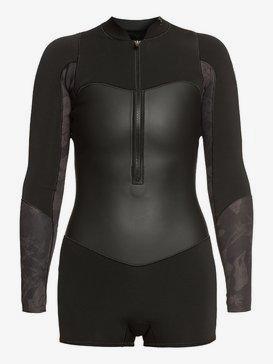 1.5mm Satin - Long Sleeve Front Zip Shorty for Women  ERJW403020