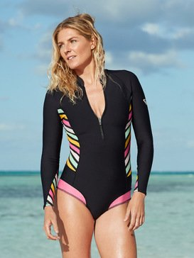 1mm POP Surf - Long Sleeve Front Zip Bikini Cut Shorty for Women  ERJW403021
