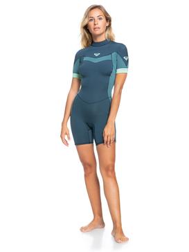 2/2mm Syncro - Short Sleeve Back Zip Springsuit for Women  ERJW503014