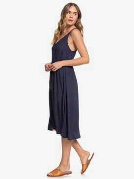 Sunset Beauty - Strappy Buttoned Midi Dress  ERJWD03441