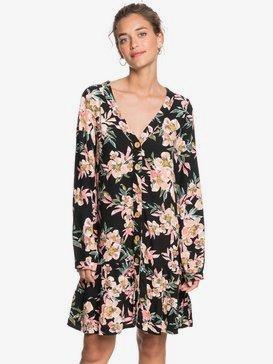Silver Forever - Long Sleeve Buttoned Dress for Women  ERJWD03488