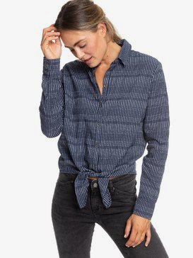 Suburb Vibes - Long Sleeve Tie-Front Shirt for Women  ERJWT03347