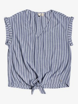Born To Try - Short Sleeve Tie-Front Crepe Top  ERJWT03392