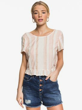 Ghost Away - Open Tie-Back Short Sleeve Top  ERJWT03400