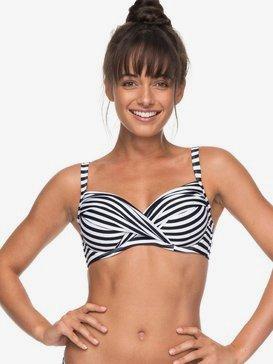 ROXY Essentials - D-Cup Bra Bikini Top for Women  ERJX303654