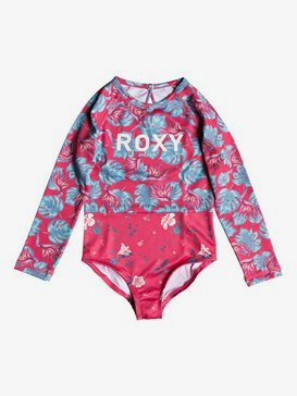 ROXY Mermaid - Long Sleeve One-Piece UPF 50 Rashguard for Girls 2-7  ERLWR03067