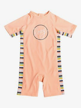 Girl Lets Go Surfing - Short Sleeve UPF 50 One-Piece Rashguard for Girls 2-7  ERLWR03103