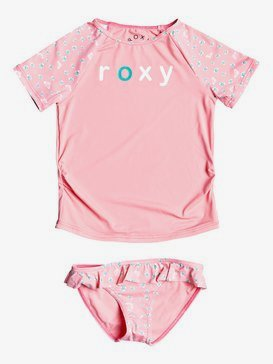 Splash Party - Short Sleeve UPF 50 Rash Vest Set for Girls 2-7  ERLWR03119