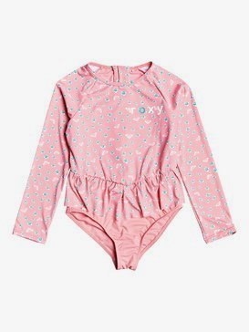 Splash Party - Long Sleeve Back Zip One-Piece Rashguard for Girls 2-7  ERLWR03120