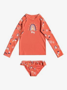 Rainbow And Sun - Long Sleeve UPF 50 Rash Vest Set for Girls 2-7  ERLWR03156