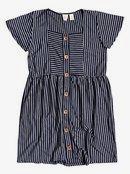 How Long - Short Sleeve Buttoned Dress for Girls 4-16  ERGKD03143