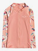 Made For ROXY - Long Sleeve Zip-Up UPF 50 Rash Vest for Girls 8-16  ERGWR03163