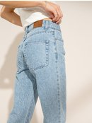 Shape Of The Wave - Mid Waist Straight Fit Jeans for Women  ERJDP03230