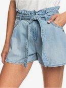 Salento Playa - High Waist Paper Bag Denim Shorts  ERJDS03221