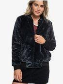 Tropical Rain - Faux-Fur Bomber Jacket for Women  ERJFT03872