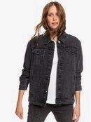 Midnight Drive Black - Denim Boyfriend Jacket for Women  ERJJK03339