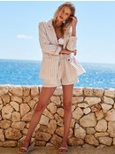 Day To Night - Striped Linen Blazer for Women  ERJJK03343