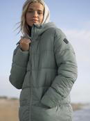 Crest Of The Wave Sherpa - Hooded Puffer Jacket for Women  ERJJK03443