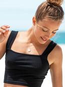 Blow Away - Rib Knit Crop Top for Women  ERJKT03730